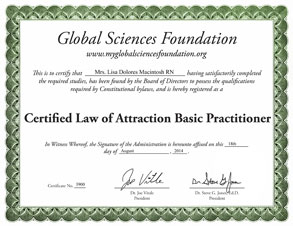 Lisa Macintosh's Law of Attraction Certification